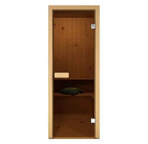 Дверь стеклянная Aldo бронза для бани и сауны