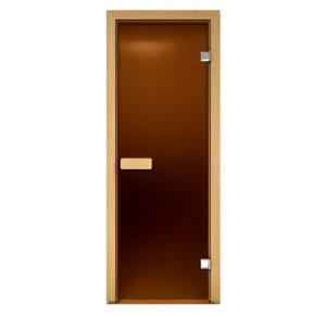 Дверь стеклянная Aldo бронза матовая для бани и сауны