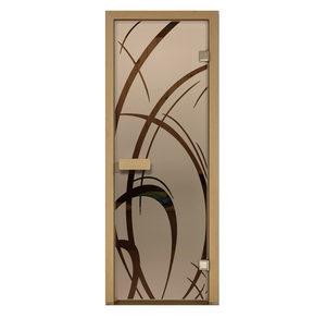 Дверь стеклянная Aldo матовая Арабика для бани и сауны