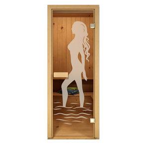 Дверь стеклянная Aldo матовая Диана для бани и сауны