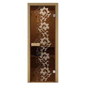Дверь стеклянная Aldo матовая Камелия для бани и сауны