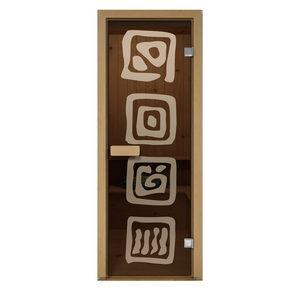 Дверь стеклянная Aldo матовая Лед для бани и сауны