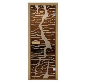 Дверь стеклянная Aldo матовая Молния для бани и сауны