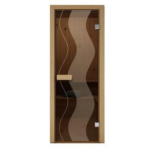 Дверь стеклянная Aldo матовая Растр для бани и сауны