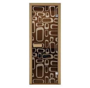 Дверь стеклянная Aldo матовая Трафик для бани и сауны
