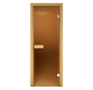 Дверь стеклянная Aldo сатин для бани и сауны