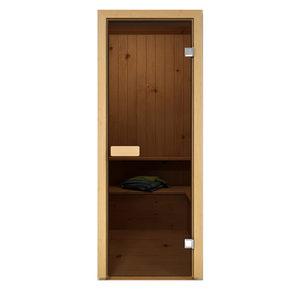 Дверь стеклянная Aldo серая для бани и сауны