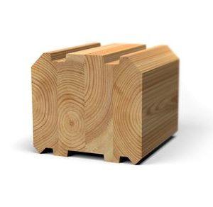 Клееный брус лиственница 40x40 для бани и сауны