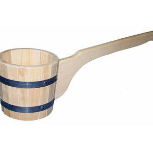 Ковш бондарный липа 1.2 л. для бани и сауны