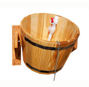 Обливное устройство 12 л. из натуральной лиственницы для бани и сауны