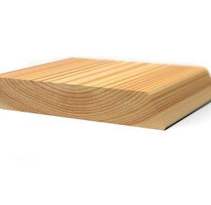 Планкен скошенный (косой) лиственница 20x90 для бани и сауны
