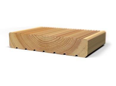Террасная доска вельвет лиственница 25x140 для бани и сауны