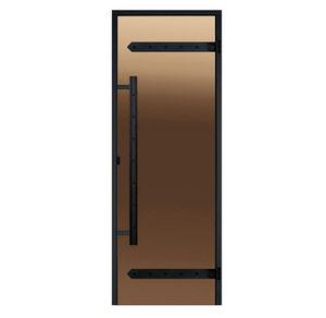 Дверь стеклянная Harvia бронза Легенд для бани и сауны