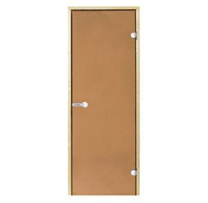 Дверь стеклянная Harvia бронза