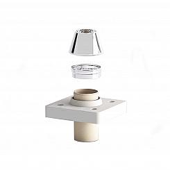 Верхний комплект (под отделку 2см) одноходовой с вент. каналом UNI для бани и сауны