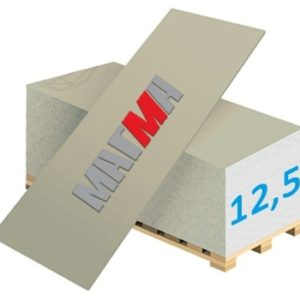 Гипсокартон Магма Трехметровый ГКЛ-3м 3000x1200x12,5мм (3.6м²)