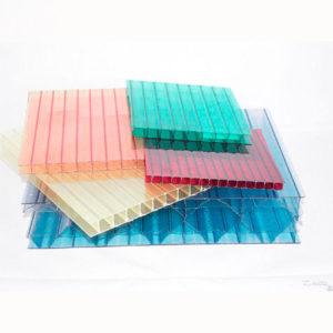 Поликарбонат сотовый 10 мм прозрачный и цветной,Ug-standart-Plastic