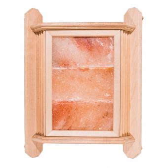 Абажур угловой из ольхи с гималайской солью (3 плитки), 37х48 см