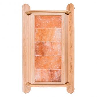 Абажур угловой из ольхи с гималайской солью (5 плиток)