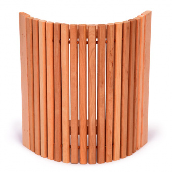 Абажур угловой с узкими рейками из ольхи для бани и сауны