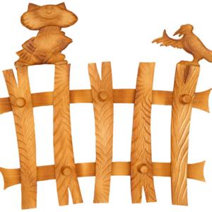 Вешалка «Кот и Ворона на заборе» тонированная