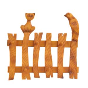 Вешалка «Кошка и Птичка на заборе» тонированная