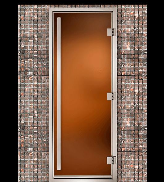 Дверь для паровых Maestro Woods Арабика Престиж бронза матовая