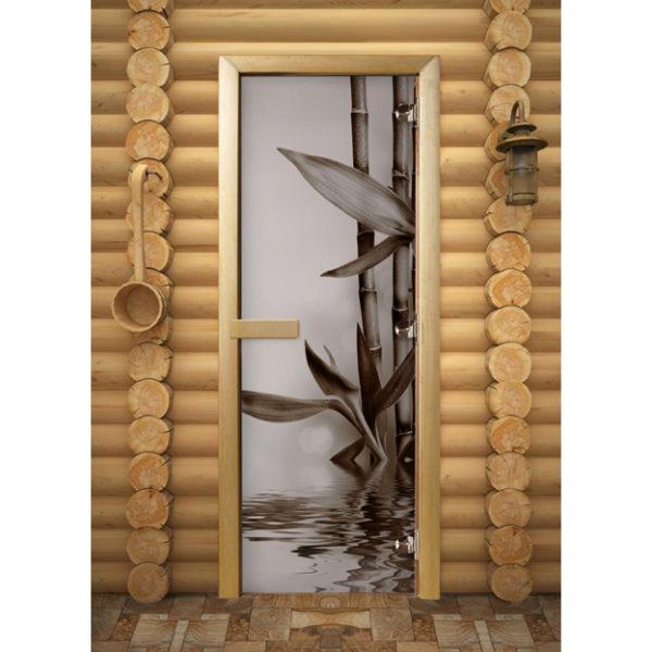 Дверь для сауны Maestro Woods Бамбук (фотопечать)