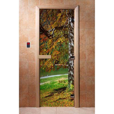 Дверь для сауны Maestro Woods Березка (Фотопечать)