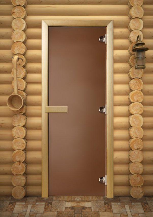 Дверь для сауны Maestro Woods Бронза матовая