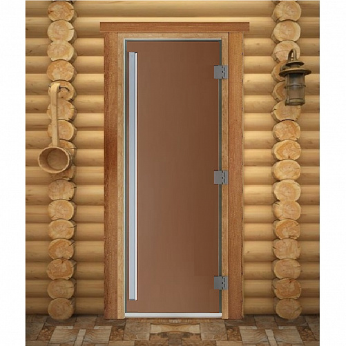 Дверь для сауны Maestro Woods Престиж Бронза матовая