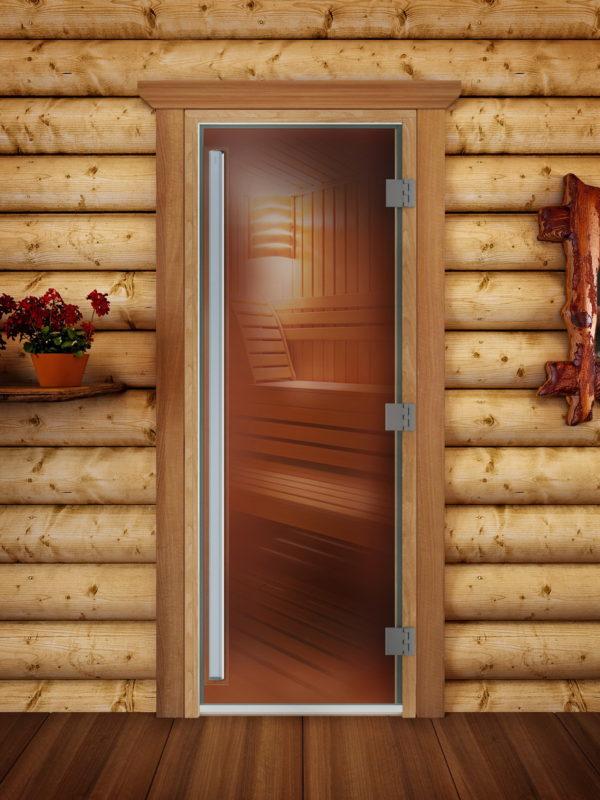 Дверь для сауны Maestro Woods Престиж Бронза