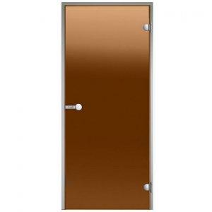 Дверь для паровых Harvia Alu (бронза)
