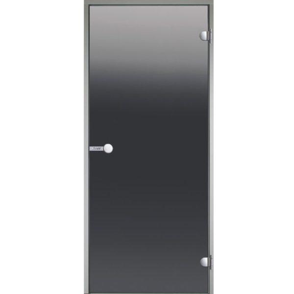 Дверь стеклянная Harvia серое с алюминиевой коробкой
