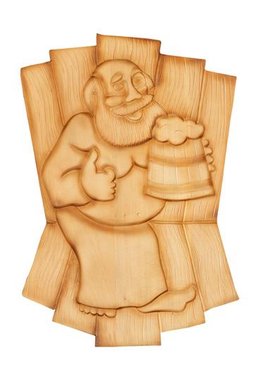 Панно «Дед с кружкой»