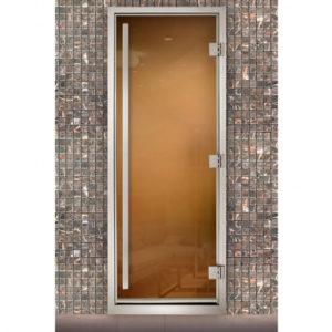 Дверь для паровых Maestro Woods Арабика Престиж бронза