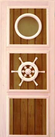 Дверь «Штурвал с иллюминатором» термолипа
