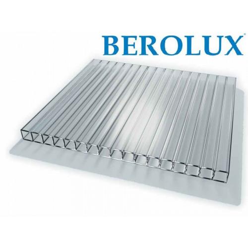 Поликарбонат сотовый прозрачный 4 мм Berolux